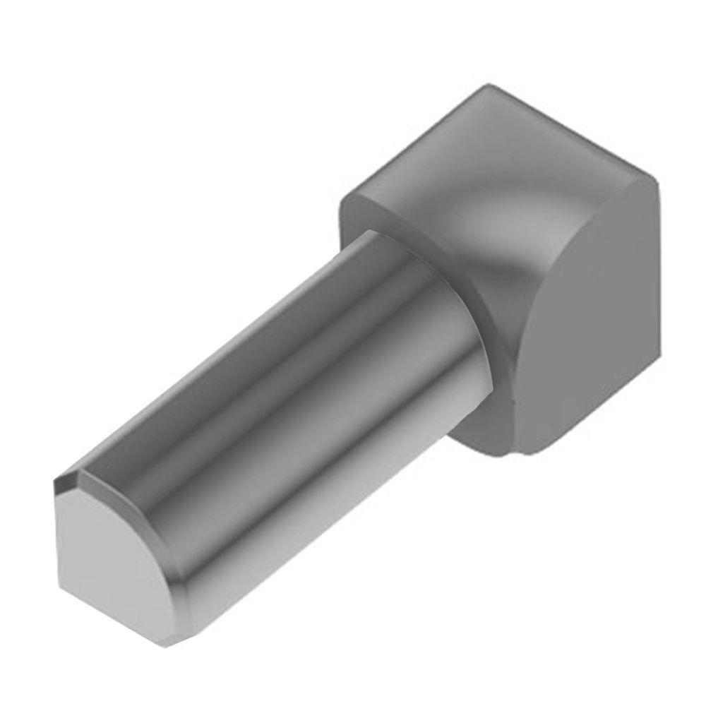 Rondec Grey Color-Coated Aluminum 1/4 in. x 1 in. Metal 90 Degree Inside Corner