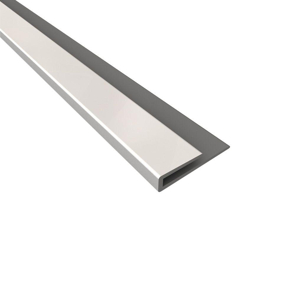 Fasade 4 ft. Large Profile J-Trim in Gloss White
