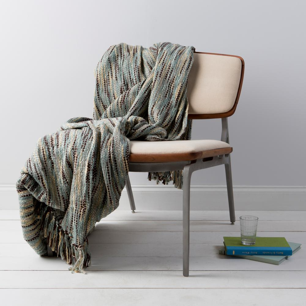Hollyn Slate Acrylic Throw