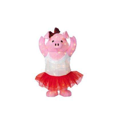 warm white led dancing pig - Pig Christmas Decorations Outdoors