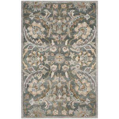 Bella Gray/Multi 3 ft. x 4 ft. Area Rug