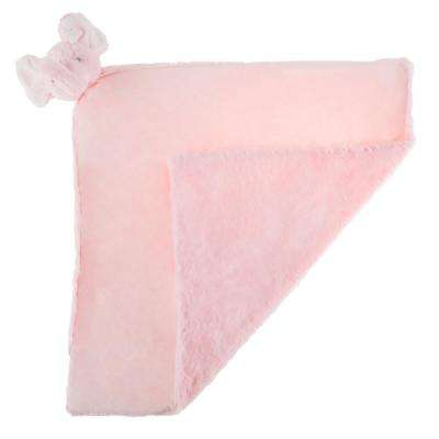 Plush Pink Elephant Buddy Baby Blanket