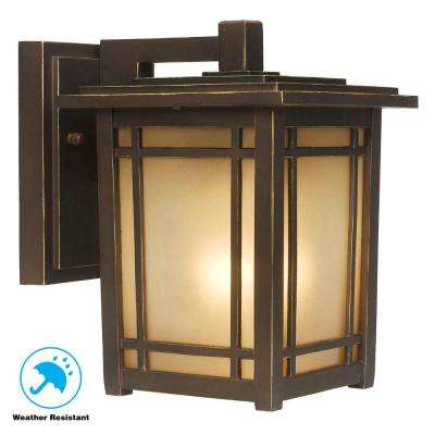 Port Oxford 1-Light Oil-Rubbed Chestnut Outdoor Wall Mount Lantern