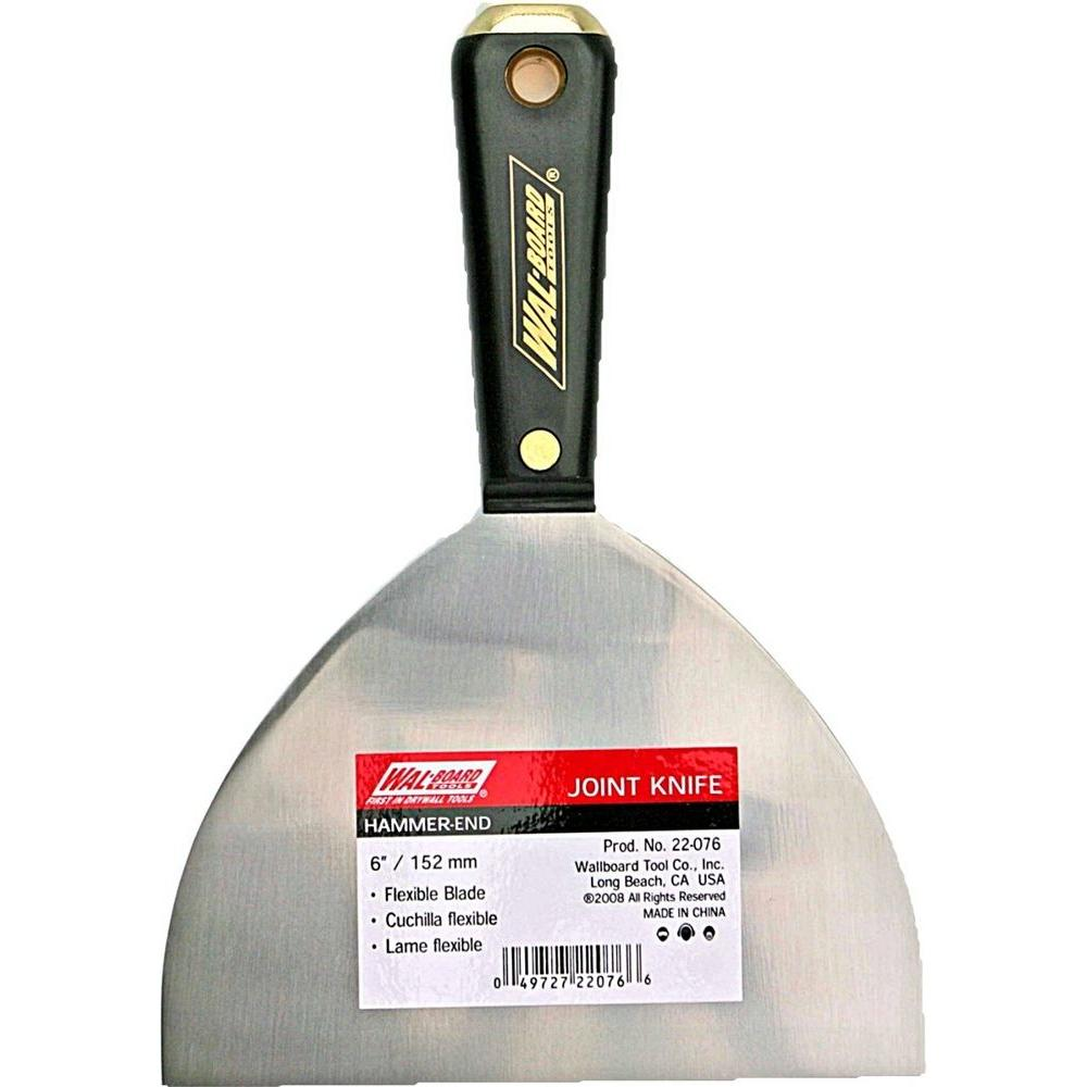 Wal-Board Tools 6 in. Hammer-End Joint Knife