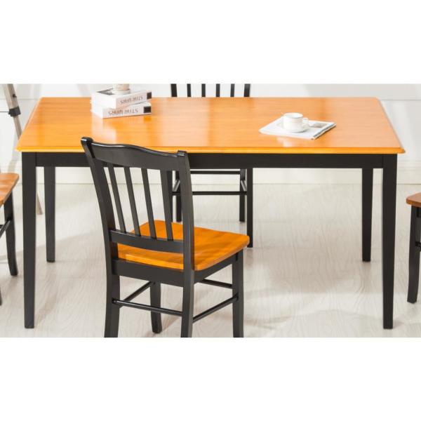 Boraam Black And Oak Shaker Dining Table 70536 The Home Depot