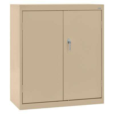 Classic Series 42 in. H x 36 in. W x 18 in. D Steel Counter Height Cabinet with Adjustable Shelves in Tropic Sand