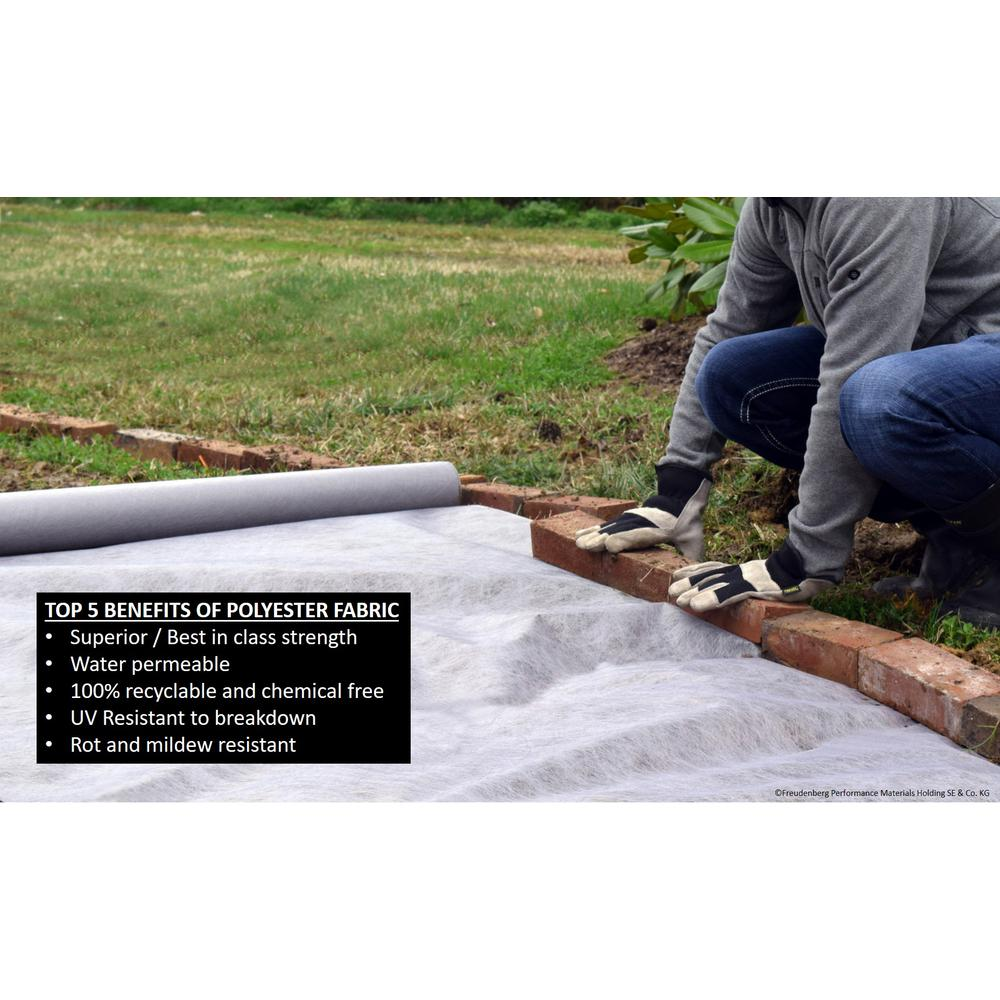 Heavy Duty Polyester Weed Barrier