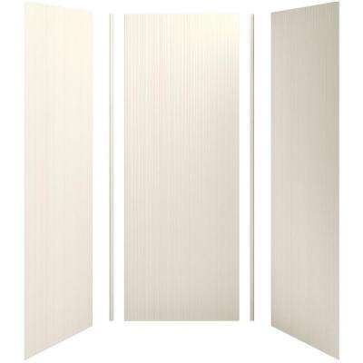 Choreograph 36 in. x 36 in. x 96 in. 5-Piece Shower Wall Surround in Biscuit with Cord Texture for 96 in. Showers