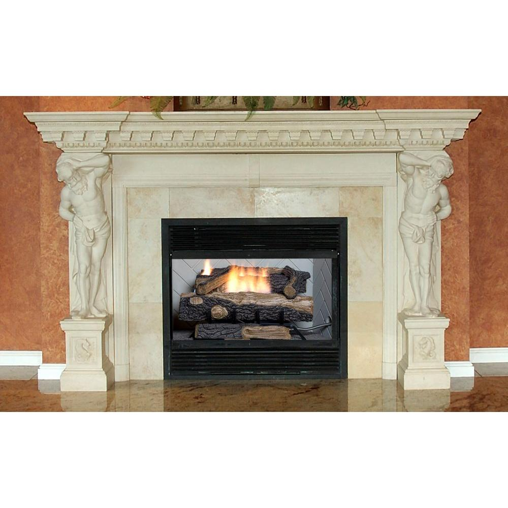 24 In Vent Free Natural Gas Fireplace Logs Log Set Diy