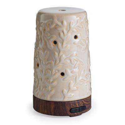 9.3 in. Flourish Ultrasonic Essential Oil Diffuser with 15 ml Essential Oil Bundle
