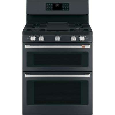 30 in. 6.8 cu. ft. Gas Range with Self Clean Oven in Matte Black, Fingerprint Resistant