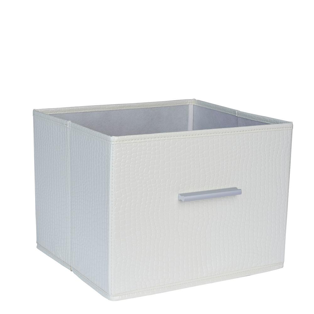 Household Essentials Premium Open Storage Bin with Aluminum Handles