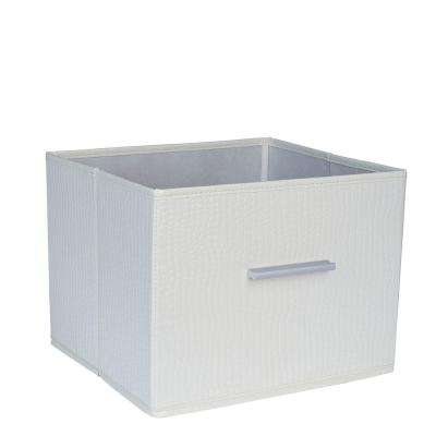Premium Open Storage Bin with Aluminum Handles