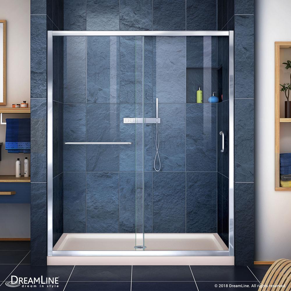 Dreamline Infinity Z 32 In X 54 In Semi Frameless Sliding Shower