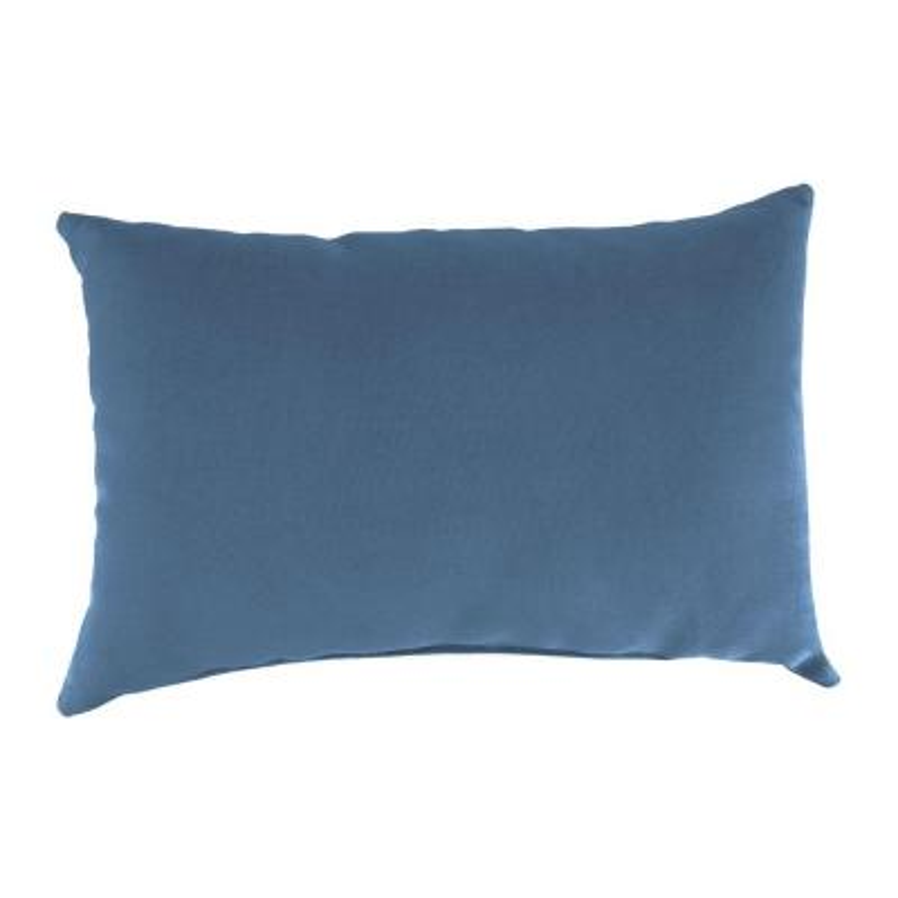 Sunbrella 9 in. x 22 in. Canvas Sapphire Blue Lumbar Outdoor Pillow