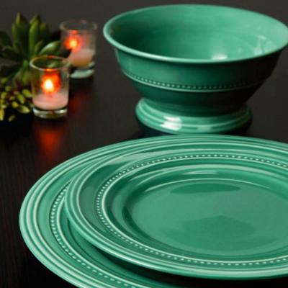Barberware 16-Piece Casual Turquoise Stone Dinnerware Set (Service for 6)