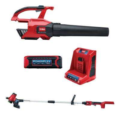 PowerPlex 40-Volt Lithium-Ion Cordless Blower and Trimmer/Edger Combo Kit (2-Tool) - 2.5 Ah Battery and Charger lncluded
