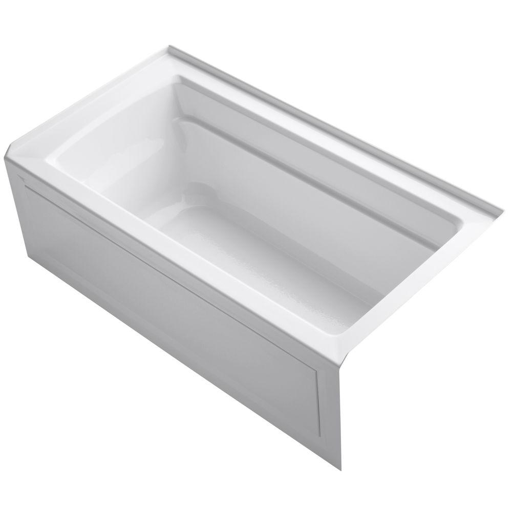 Archer 5 ft. Acrylic Right Hand Drain Rectangular Farmhouse Apron-Front