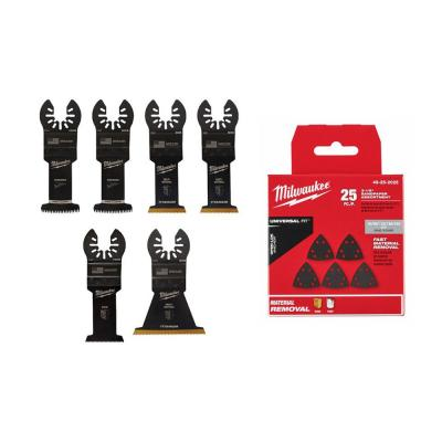 Oscillating Multi-Tool Blade Starter Kit with 3-1/2 in. Triangle Sandpaper Variety Pack (31-Piece)