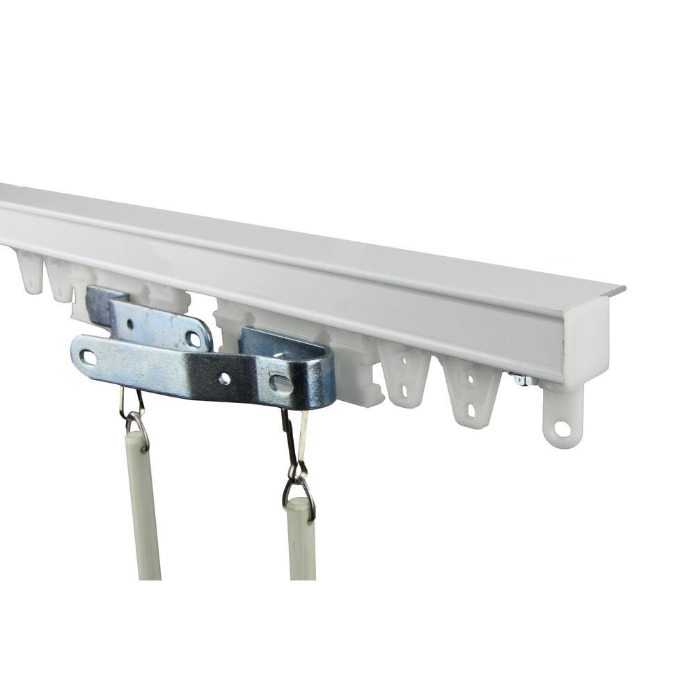 Rod Desyne 192 In Commercial Ceiling Track Kit Tk16c The Home Depot