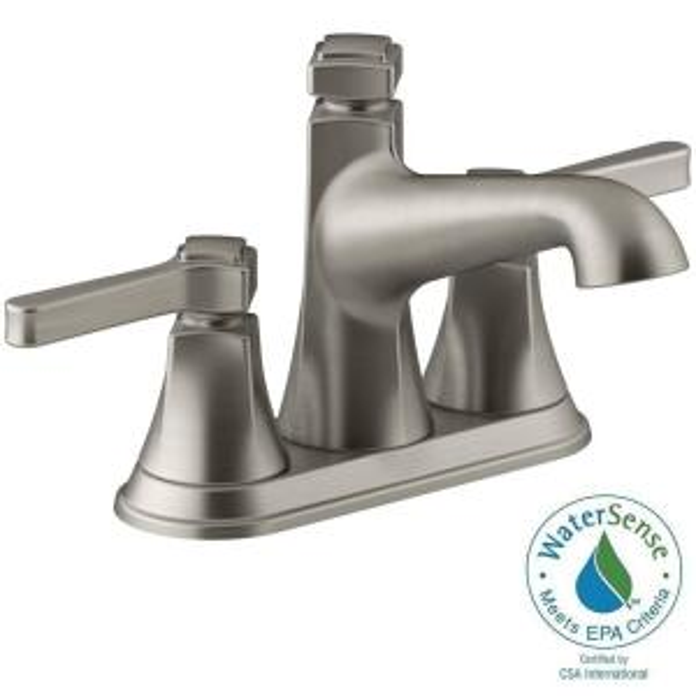 Bathroom Faucets Kohler kohler rubicon 4 in. centerset 2-handle bathroom faucet in vibrant