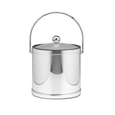 Mylar Polished Chrome 3 Qt. Ice Bucket with Lucite Cover