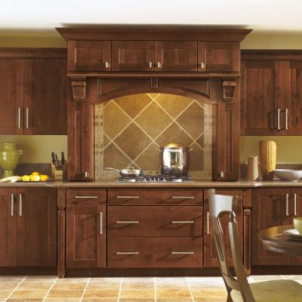 thomasville classic custom kitchen cabinets shown in