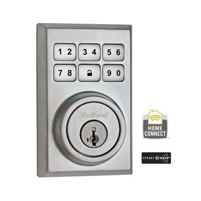 Z-Wave SmartCode 910 Contemporary Satin Chrome Single Cylinder Electronic Deadbolt Featuring SmartKey Security