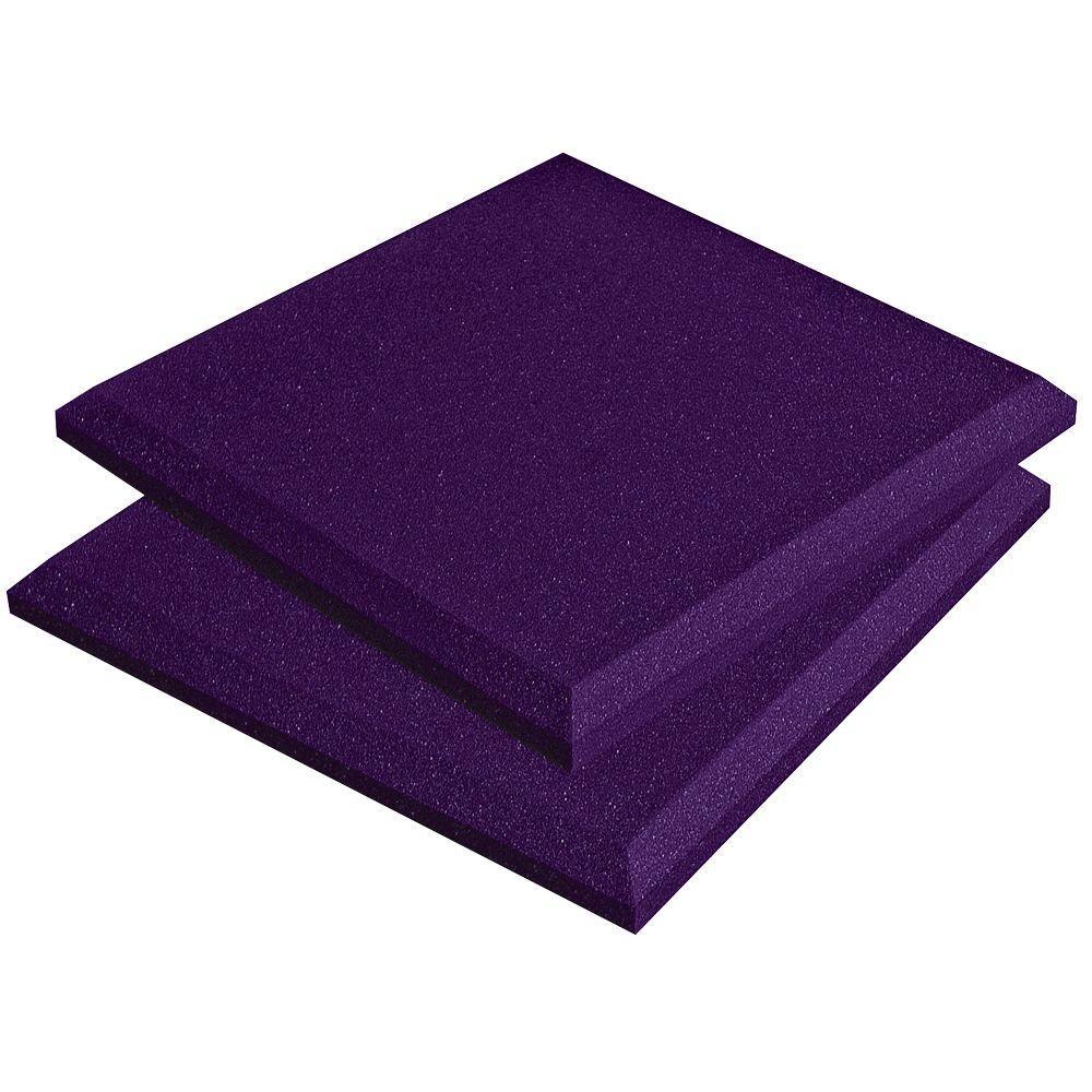 Auralex SonoFlat Panels - 1 ft. W x 1 ft. L x 2 in. H - Purple (14-Box)