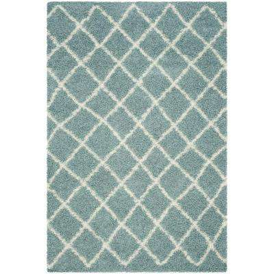 Dallas Shag Seafoam/Ivory 5 Ft. X 8 Ft. Area Rug