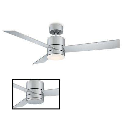 Axis 52 in. LED Indoor/Outdoor Titanium Silver 3-Blade Smart Ceiling Fan with 3000K Light Kit and Wall Control