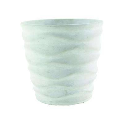 Urban Wave 6-3/4 in. Chalk Cement Planter