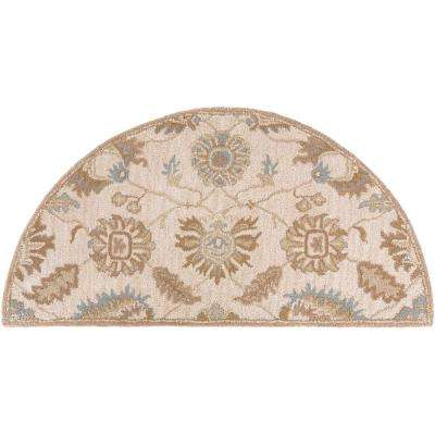 Leoville Beige 2 ft. x 4 ft. Hearth Area Rug