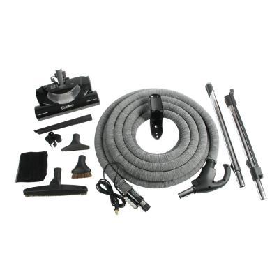 Complete Electric Powerhead Kit with Pigtail Hose for Central Vacuums