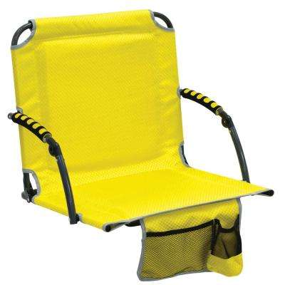 Bleacher Boss Pal Yellow Folding Stadium Seat with Padded Armrests