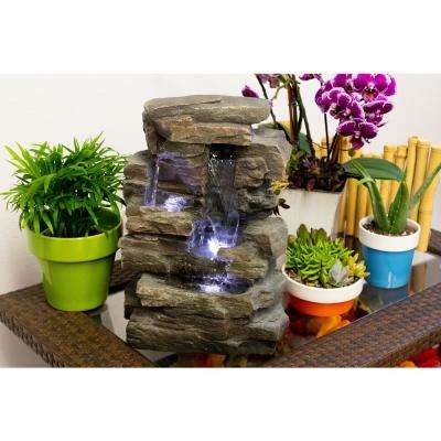 13 in. Waterfall Tabletop Fountain