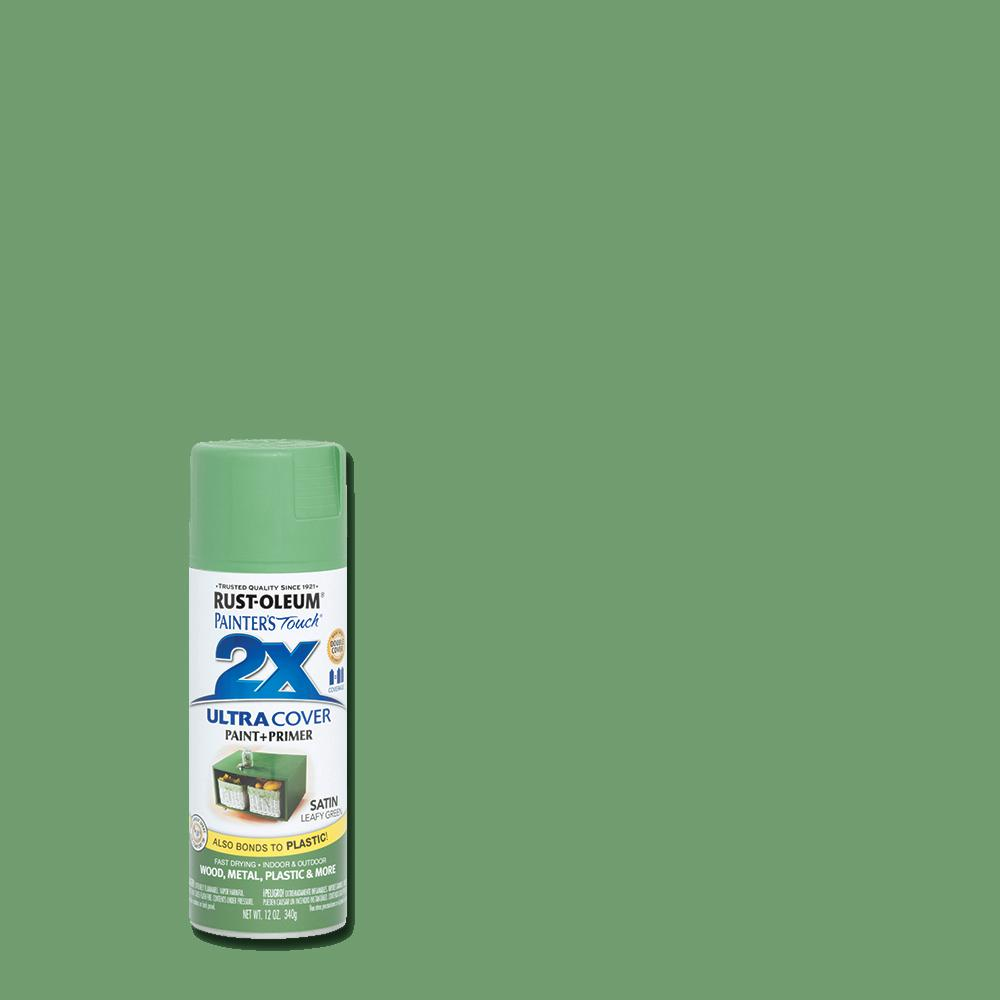 Rust Oleum Painter S Touch 2x 12 Oz Satin Leafy Green General Purpose Spray Paint