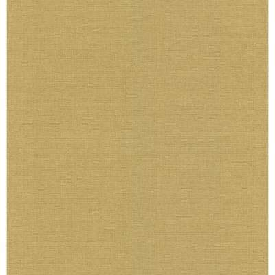 Gold Linen Texture Wallpaper Sample