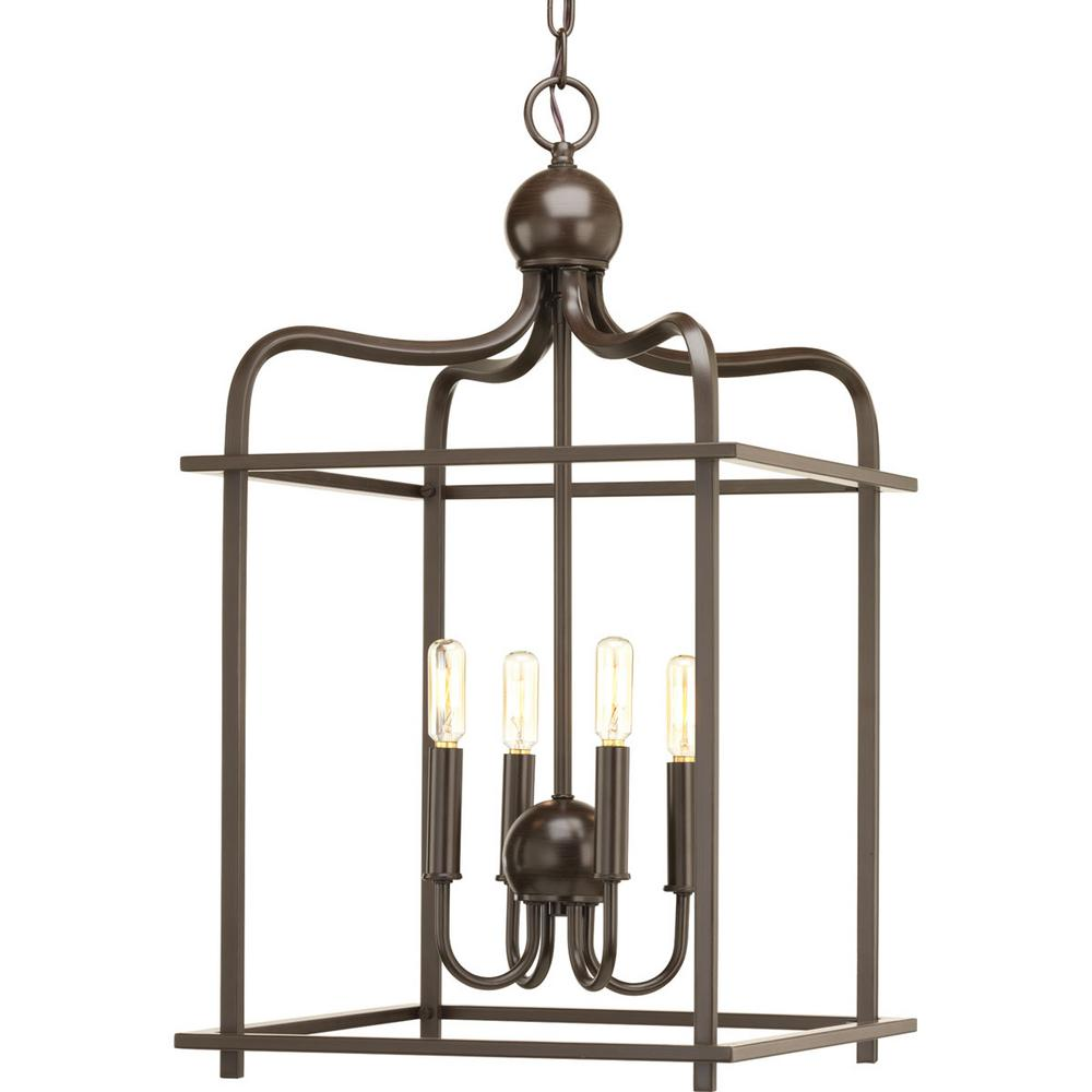 Assesmbly Hall Collection 4  Light Antique Bronze Pendant