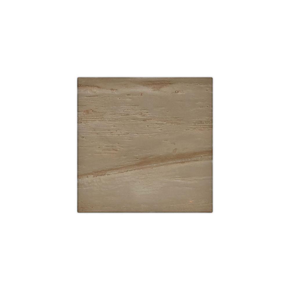 6 in. x 6 in. Riverwood Honey Dew Endurathane Faux Wood Ceiling Beam Material Sample
