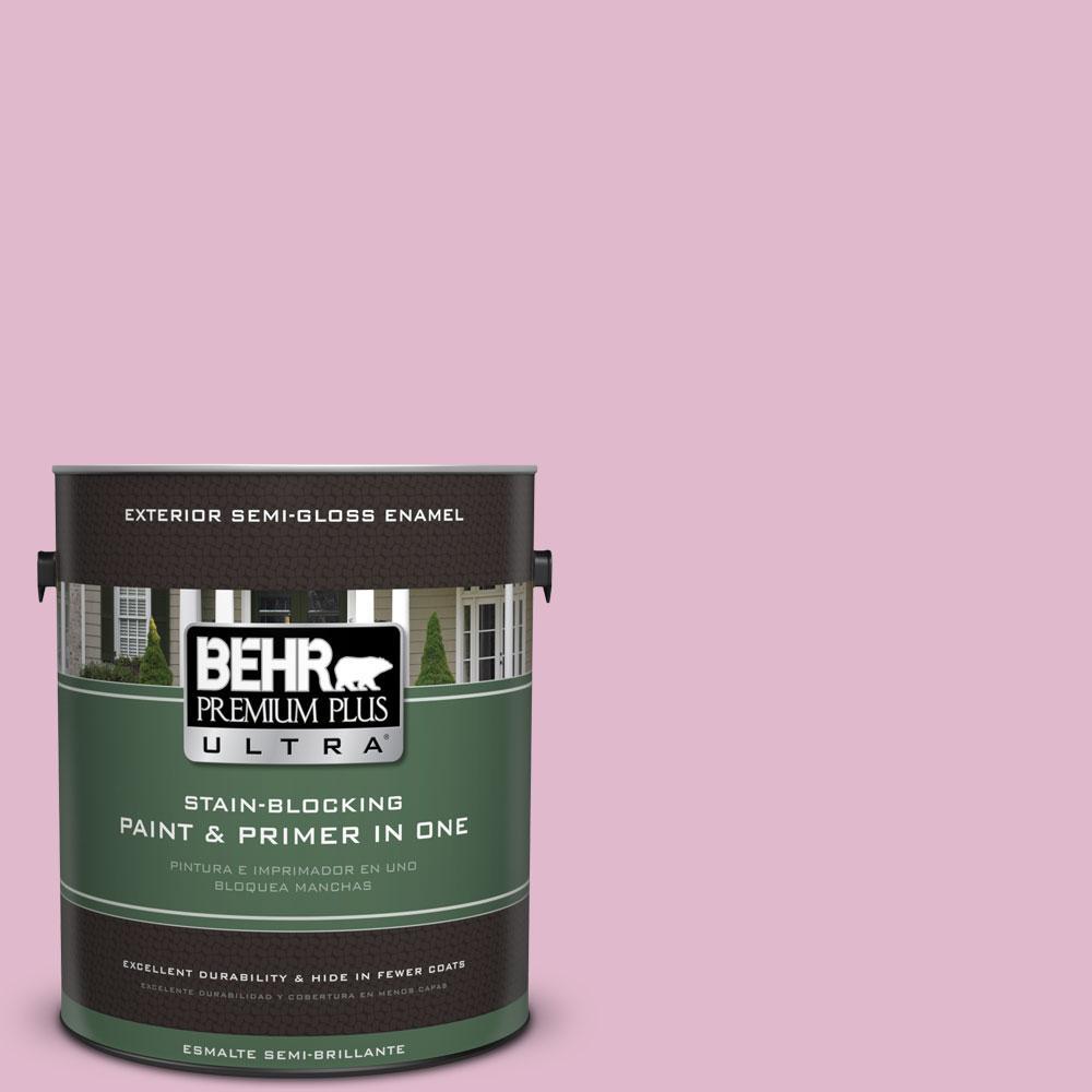 BEHR Premium Plus Ultra 1-gal. #M130-3 Wild Geranium Semi-Gloss Enamel Exterior Paint