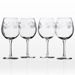 Icy Pine 18 oz. Clear Balloon Wine (Set of 4)