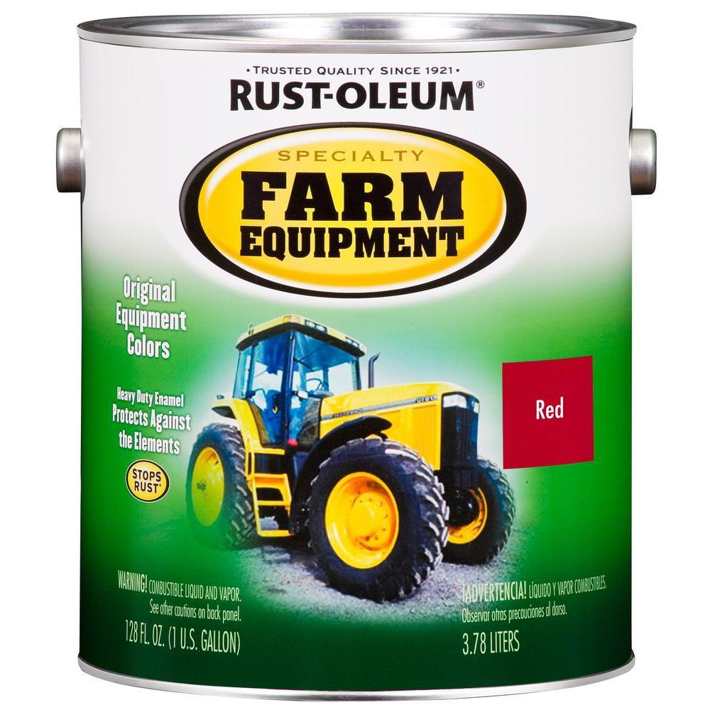1 gal. Farm Equipment International Harvester Red Gloss Enamel Paint (2-Pack)