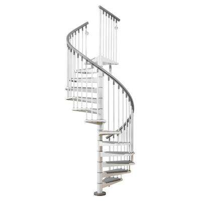 Eureka 47 in. White Spiral Staircase Kit
