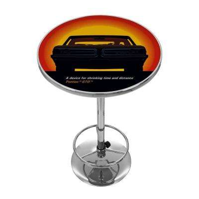 Pontiac GTO Time and Distance Orange Pub/Bar Table