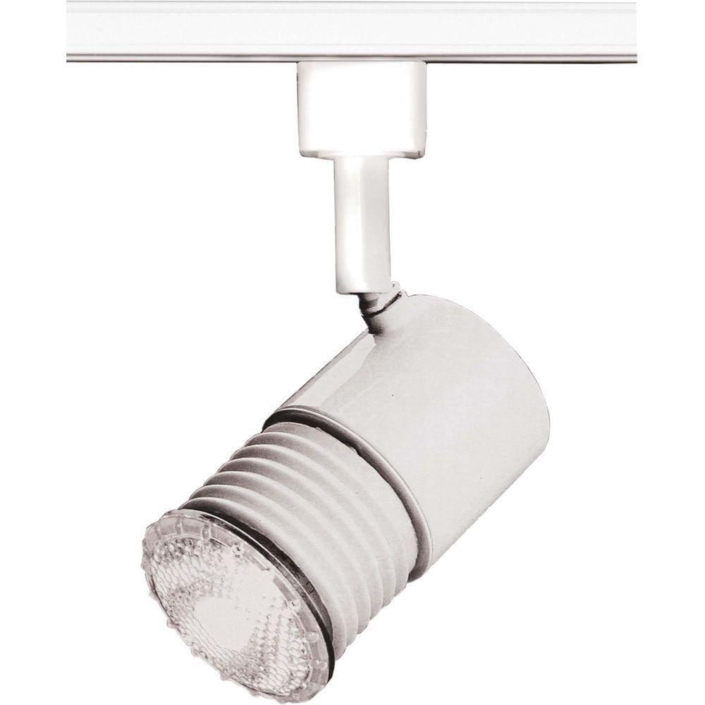 White Pendant Track Lighting: Lite Line 1-Light 2 In. White Mini Universal Holder Track