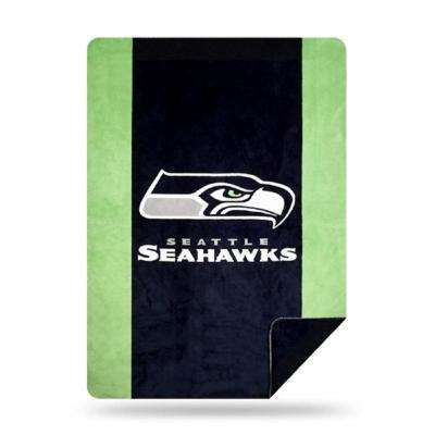 Seahawks Multi Color Acrylic Sliver Knit Throw