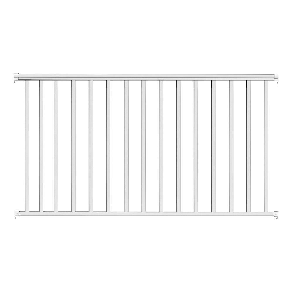 MaddenManufacturing Madden Manufacturing 6 ft. x 36 in. White Aluminum Baluster Railing Kit