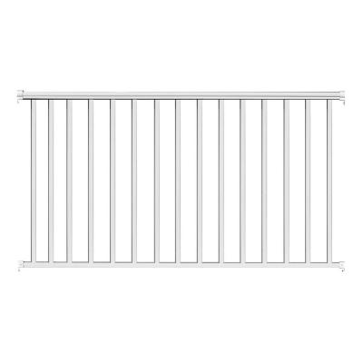 6 ft. x 42 in. White Aluminum Baluster Railing Kit