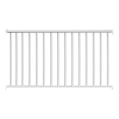 8 ft. x 42 in. White Aluminum Baluster Railing Kit